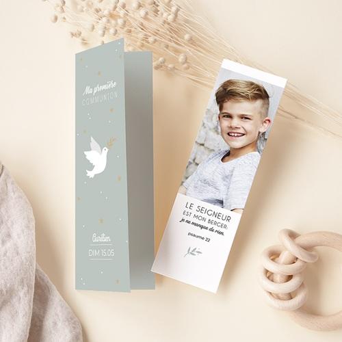 Faire-part communion garçon Messager de Paix