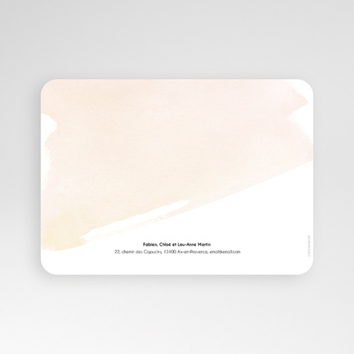 Faire-part Communion Fille - Aquarelle dorée 58787 thumb