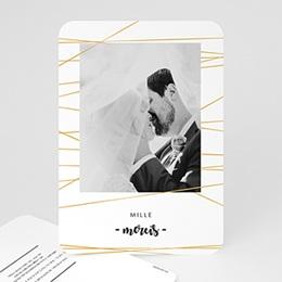 Carte remerciement mariage photo Minimal Chic
