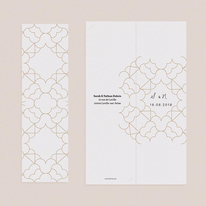 Carte Remerciement Mariage Oriental Alhambra