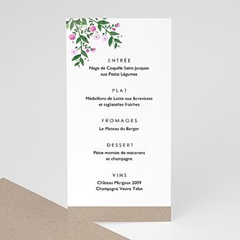 Menu de Mariage - Nature en fête - 0