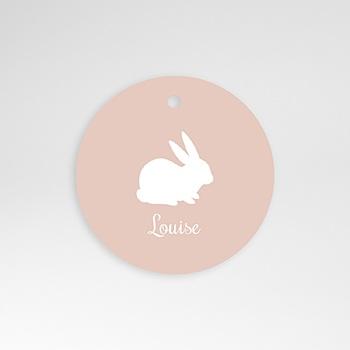 Création etiquette naissance lapin vintage