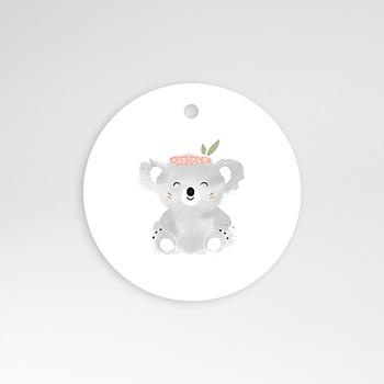 Étiquette Naissance - Koala Rose - 0