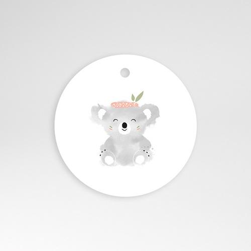 Etiquette Cadeau Naissance Koala Rose