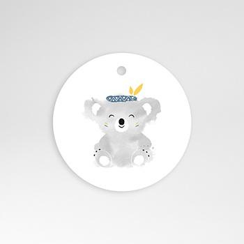 Étiquette Naissance - Koala bleu - 0