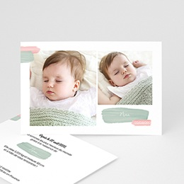 Faire-part naissance fille Photo simple