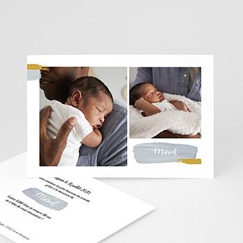 Faire-part naissance photo Photos et Pinceaux à personnaliser