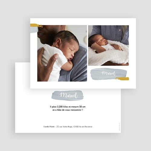 Faire-part naissance photo Photos et Pinceaux gratuit
