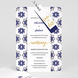 Faire-part mariage Bleu Ottoman