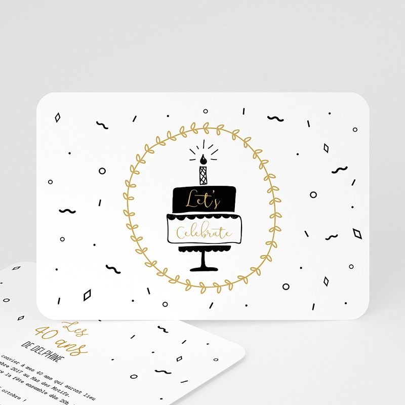 invitation anniversaire 40 ans gateau 60 ans. Black Bedroom Furniture Sets. Home Design Ideas