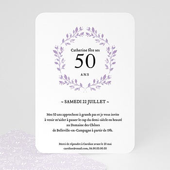 Invitation Anniversaire 50 Ans Carte Personnalisee Carteland
