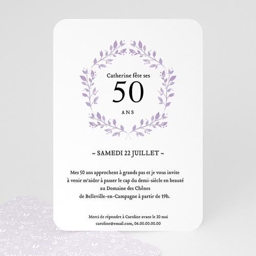 Carte invitation anniversaire 50 ans Cinquante+
