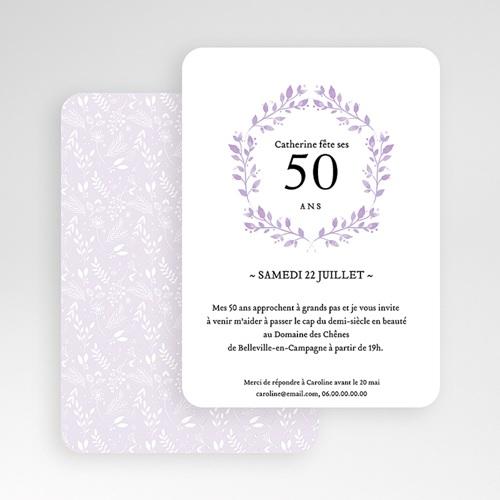 Carte invitation anniversaire 50 ans Cinquante+ gratuit