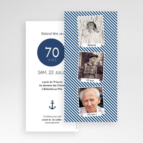 Carte invitation anniversaire 70 ans Etapes de vie pas cher