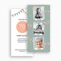 Carte invitation anniversaire 80 ans Quatre-vingts ans gratuit