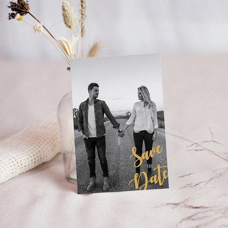 Save the date mariage Boho Lie de Vin