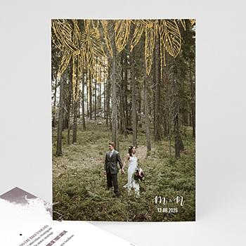 Remerciement mariage photo - Boho Lie de Vin - 0