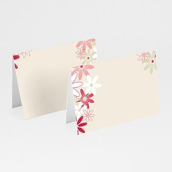 Acheter marque place mariage personnalisés champs floral
