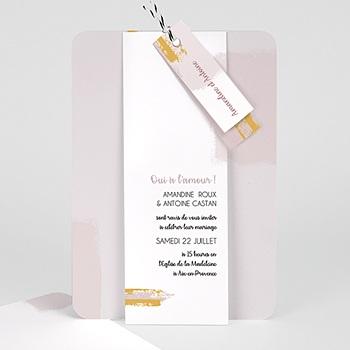 Faire part de mariage créatif rose quartz rose