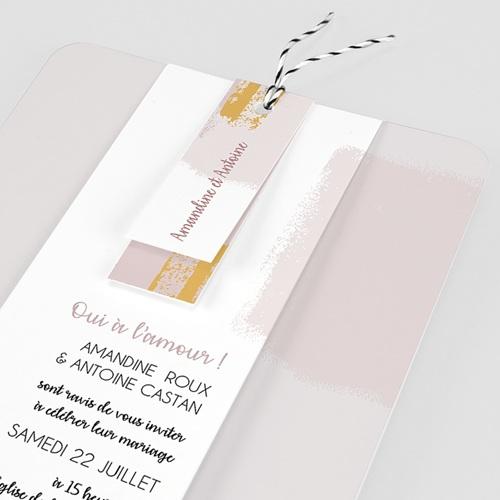 Faire-Part Mariage Créatif Rose quartz pas cher