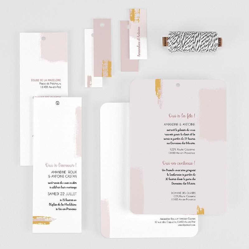 Faire-Part Mariage Créatif Rose quartz gratuit