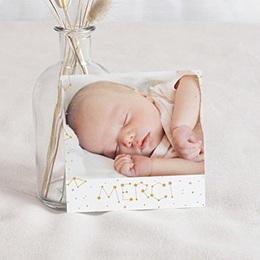 Carte remerciement naissance fille Constellation Pastel
