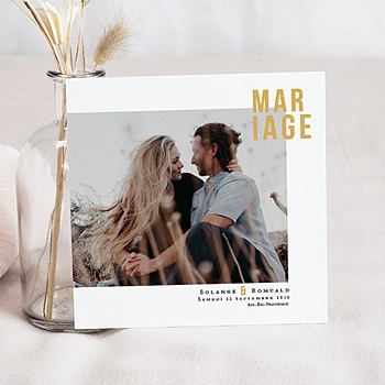 Faire Part Mariage creatif - Photo & Typo - 0