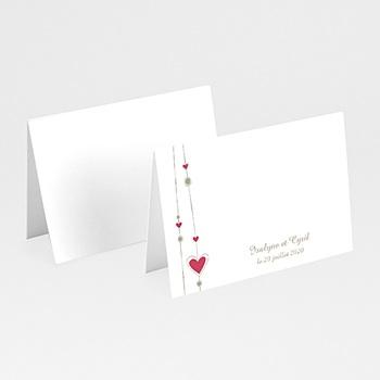 Achat marque place mariage personnalisés thème perles