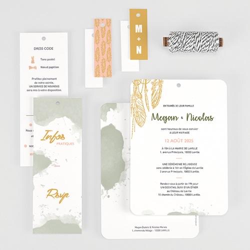 Faire-Part Mariage Boho Olive gratuit