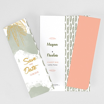 Save the date mariage boho olive à personnaliser