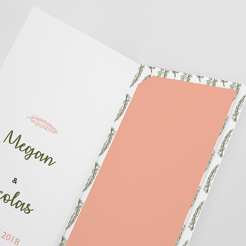 Save The Date Mariage Boho Olive pas cher