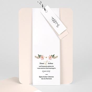 Faire Part mariage vintage - Douceur des fleurs - 0