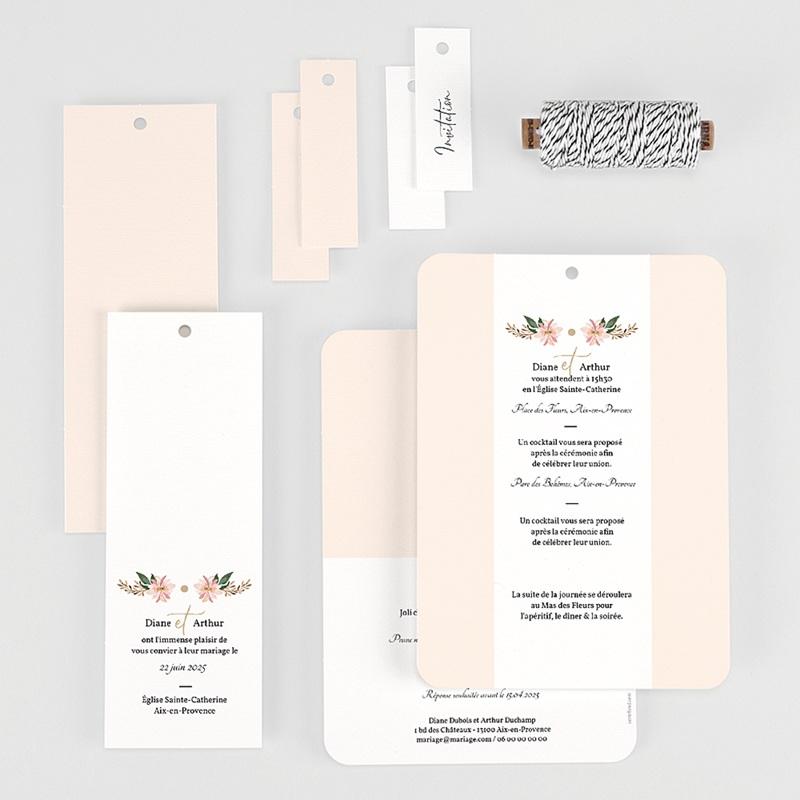 Faire-Part Mariage Douceur des fleurs gratuit