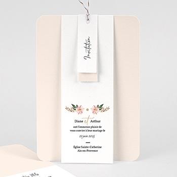 Faire Part mariage vintage - Douceur des fleurs - 3