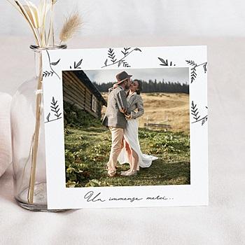 Remerciement mariage photo - Kraft et Brindilles - 0