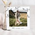 Carte remerciement mariage photo Kraft et Brindilles