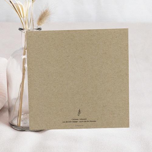 Carte remerciement mariage photo Kraft et Brindilles pas cher