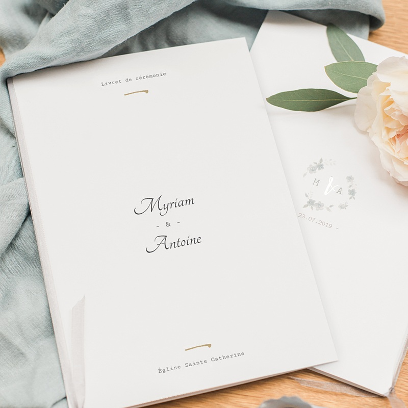 Livret messe mariage Rose Botanique pas cher