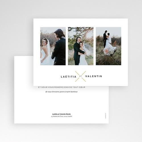 Remerciement mariage photo - Minimaliste Gris & Or 59681 thumb