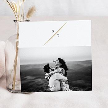 Remerciement mariage photo - Feuillages Vintage - 0