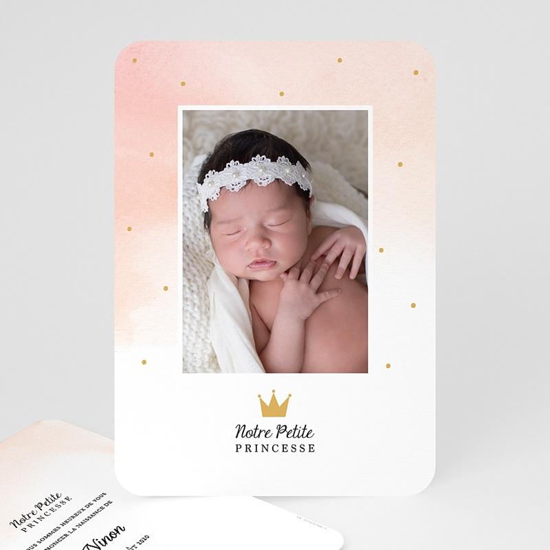 Faire-Part Naissance Fille Petite Princesse