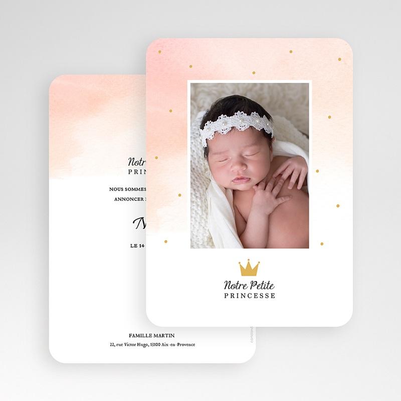 Faire-Part Naissance Fille Petite Princesse gratuit