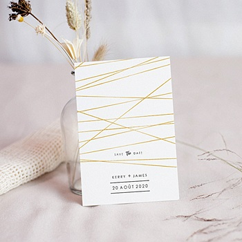 Création save the date mariage minimal chic
