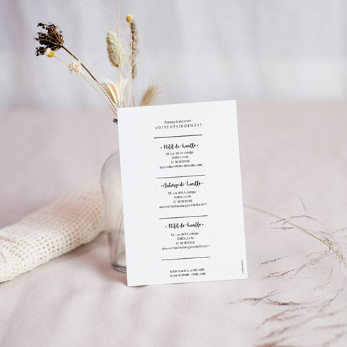 Save the date mariage Minimal Chic pas cher