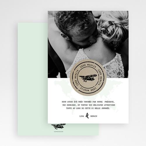 Carte Remerciement Mariage Photo Time To Love gratuit