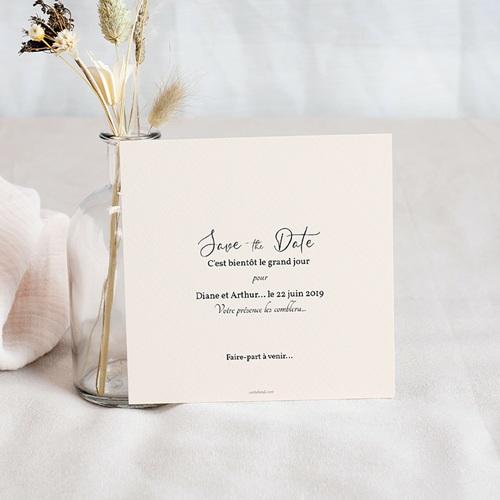 Save The Date Mariage Douceur des fleurs pas cher
