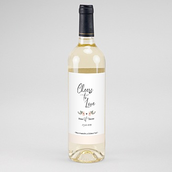 Étiquette bouteille mariage - Douceur des fleurs - 0