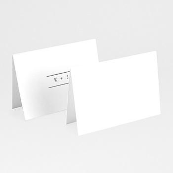 Marque place mariage minimaliste gris et blanc personnalisable