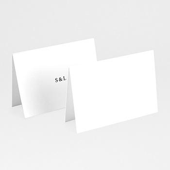 Marque place mariage carré typographique personnalisé