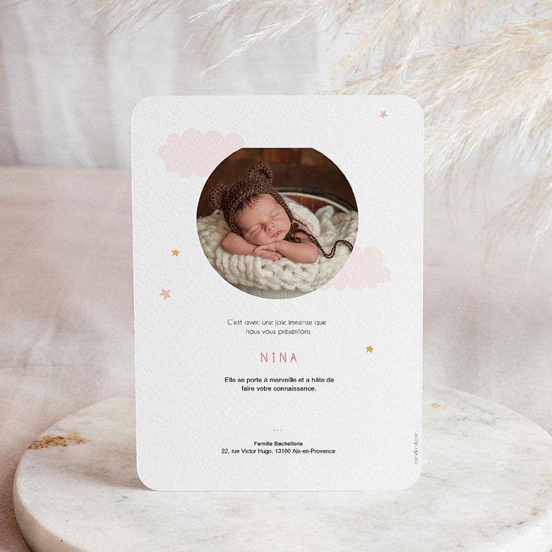 Faire-part naissance fille Petite Panda pas cher